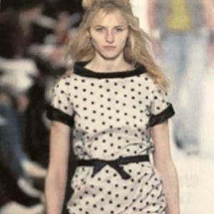 Marc Jacobs Pink Polka Dot Runway Dress M
